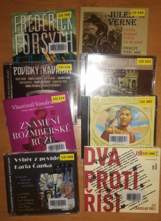 2018-11-08 Nová várka zvukových knih